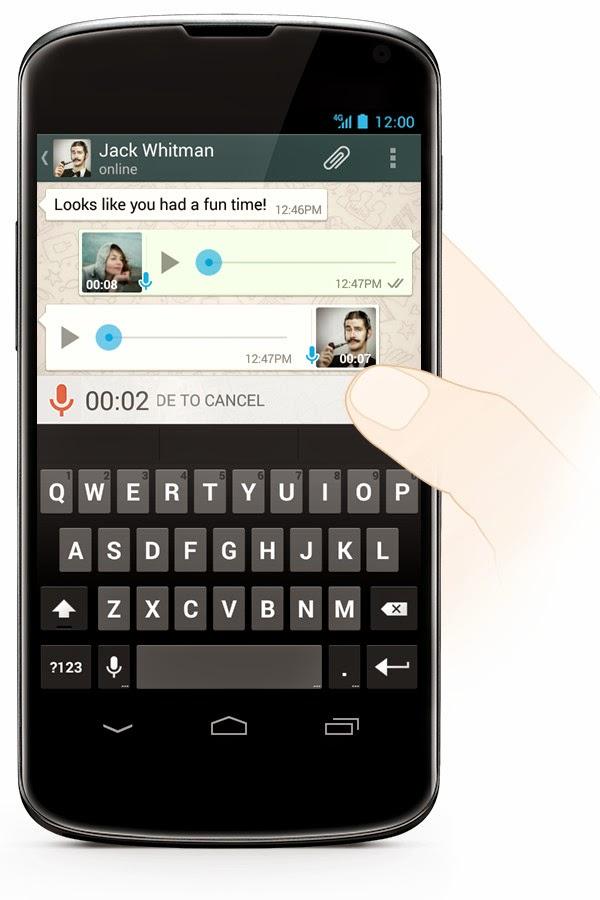 send a voice message on whatsapp