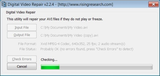 how to repair corrupted avi video files