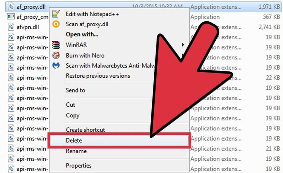 locate your dll file and right-click