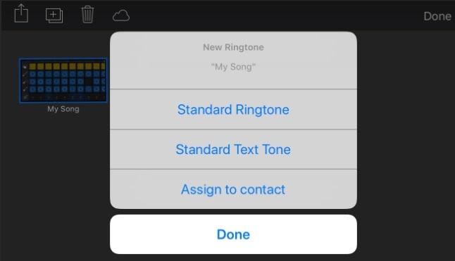 save it as a standard ringtone