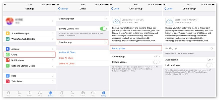 export whatsapp messages iphone to pc