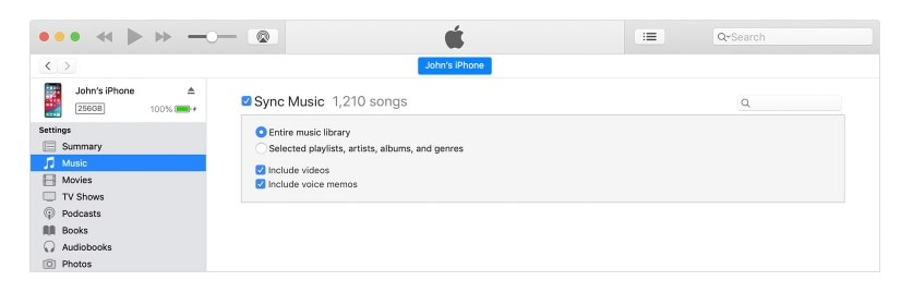 sync-music-with-itunes