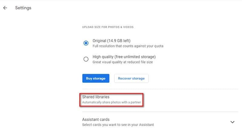 how to transfer google photos to another google account