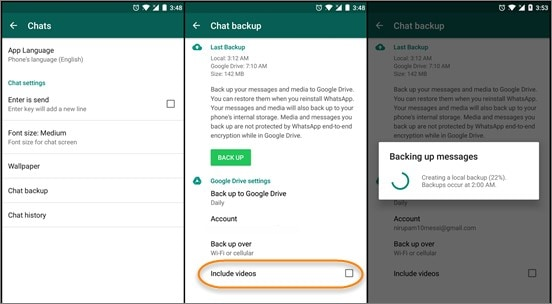 how to restore whatsapp messages via google drive