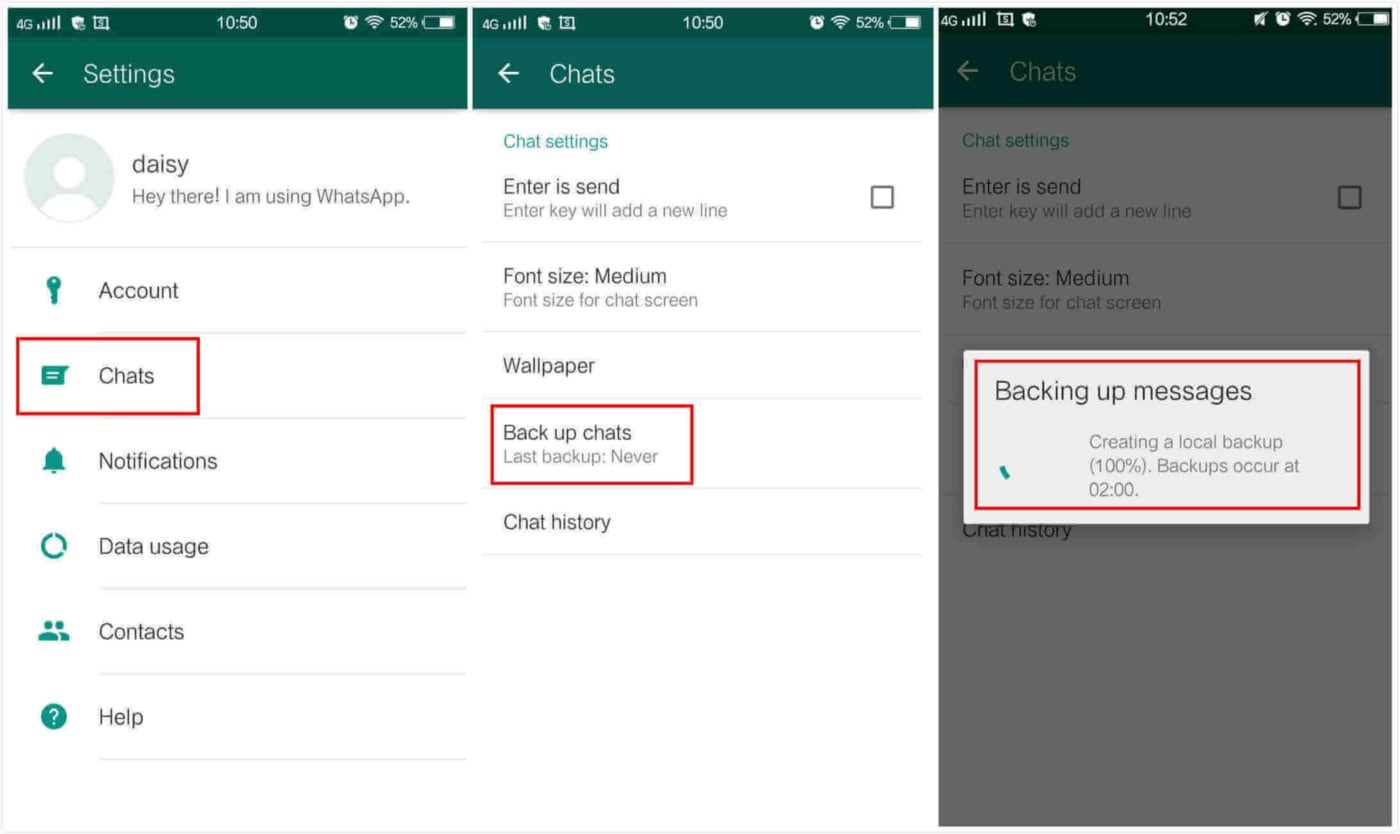 transfer whatsapp from android to iphone using google drive