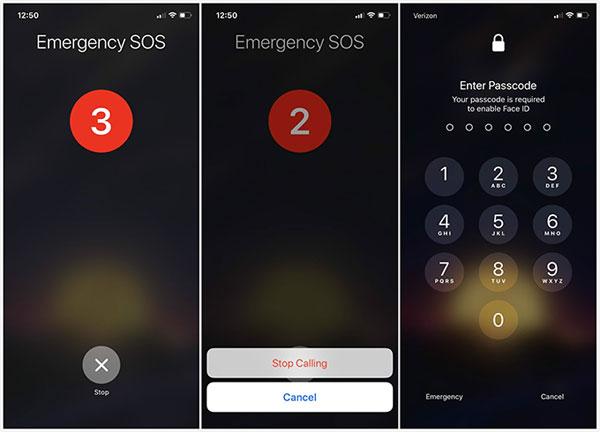 unlock iphone x using sos