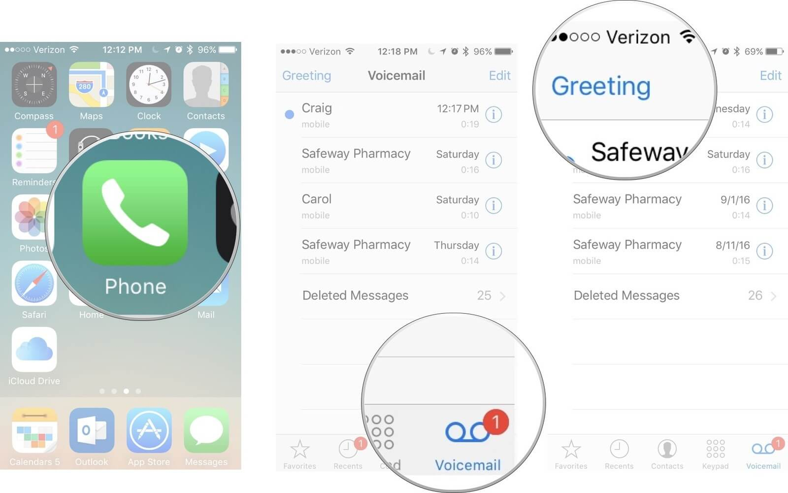 how to change the voicemail number