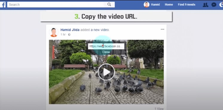 share facebook videos