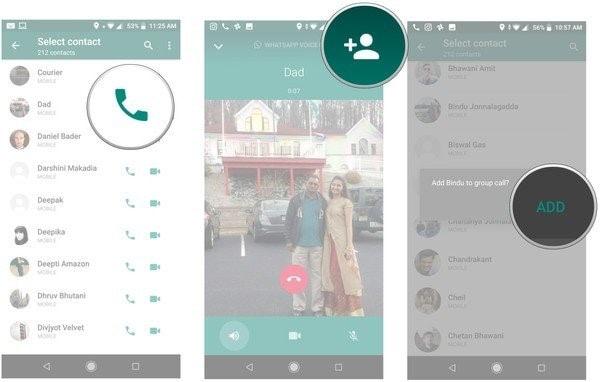 set whatsapp group call