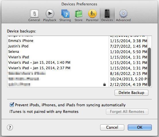 mac iTunes auto sync