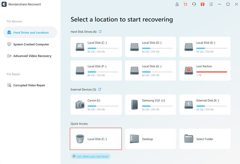 recycle bin lost data location