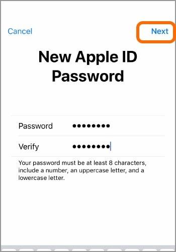 reset with apple id passcode