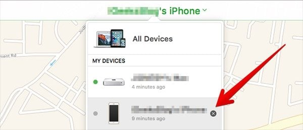 remove iphone from iCloud