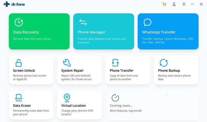 download and install dr.fone - Phone Manager (Android)
