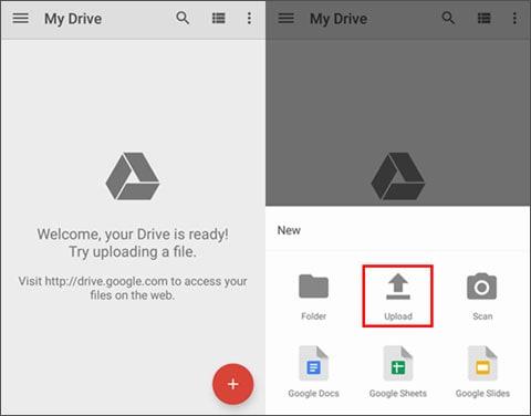upload data to google drive