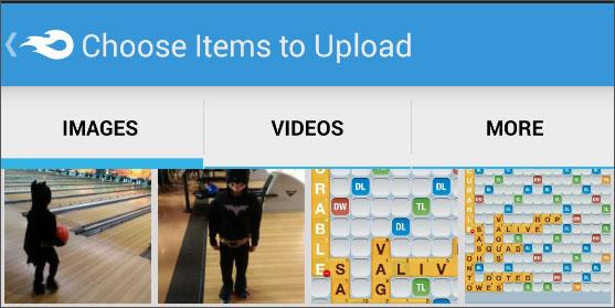 choose files for backup