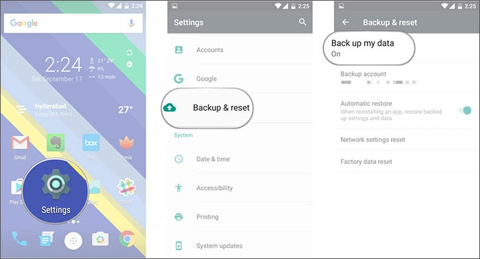 backup Wi-Fi networks on Android
