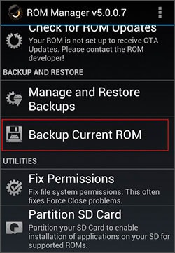 how to backup android stock