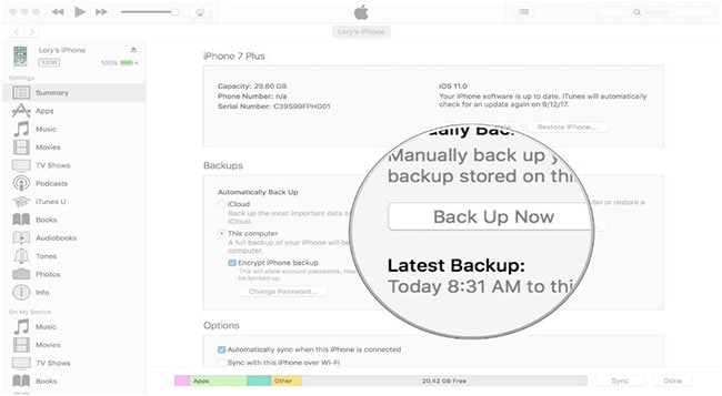 how to backup iphone 4 to itunes