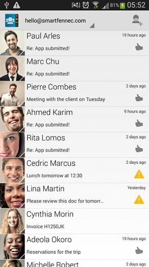 android application contact manager