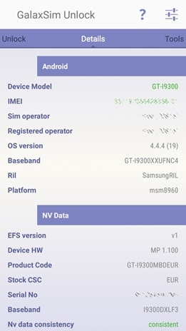 sim unlock code android