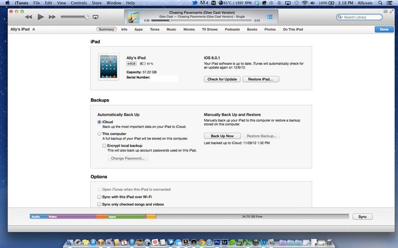 backup iPhone 6 to iTunes