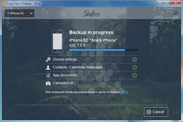 iPhone backup software program