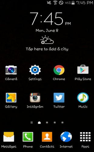 delete unnecessary home pages lg and samsung