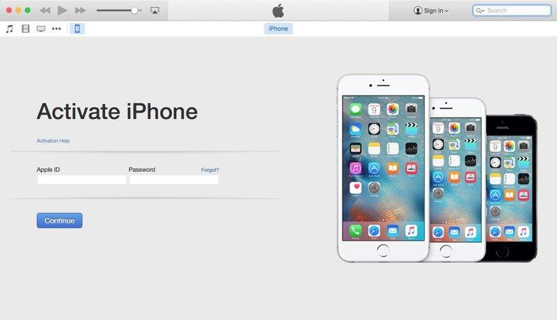 activate my verizon iPhone via iTunes