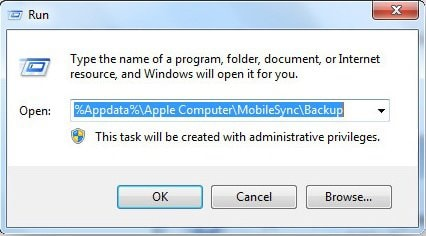iPad backup location windows 10