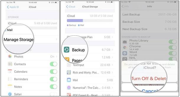 iphone 6 storage full