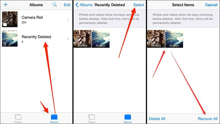 how to recover deleted photos from ipad mini without backup