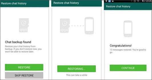 restore whatsapp backup on new phone