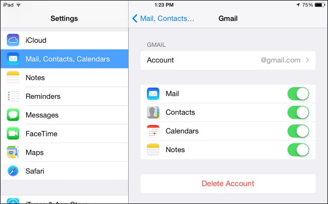 reset your email settings on iphone