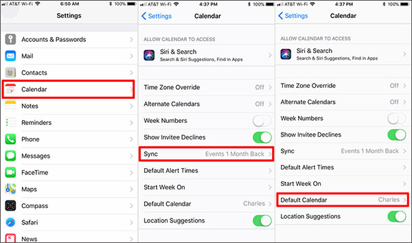 google calendar not syncing with iphone
