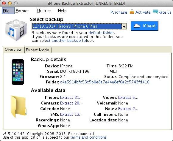 backup iTunes data