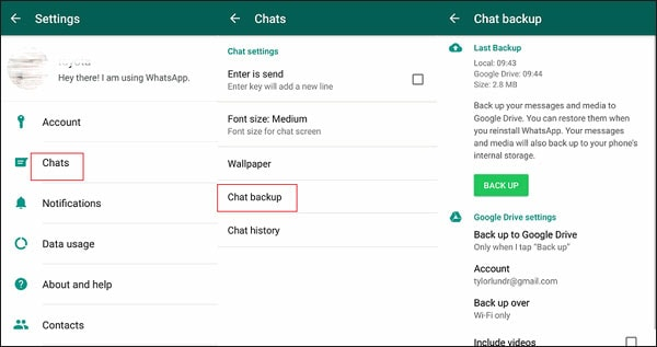 how to transfer WhatsApp local backup