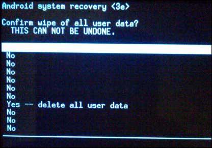 delete all user data