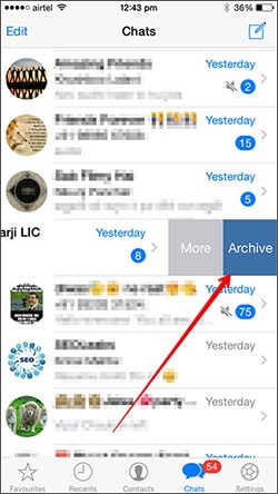 whatsapp archive chat