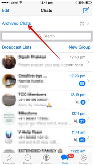 whatsapp archived messages