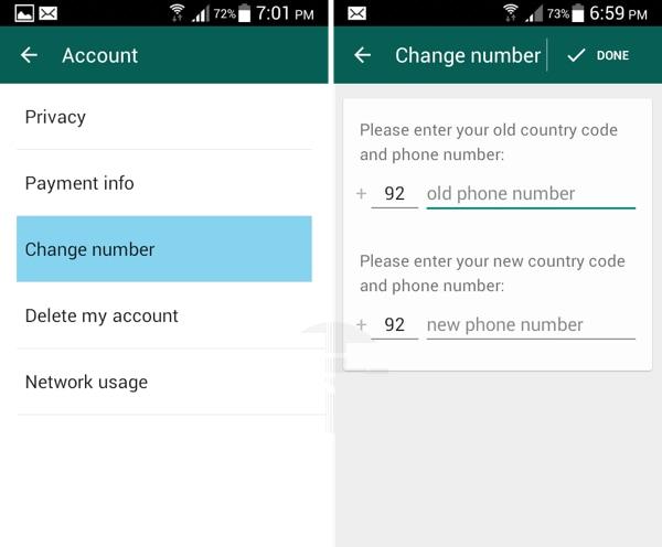 whatsapp change phone number