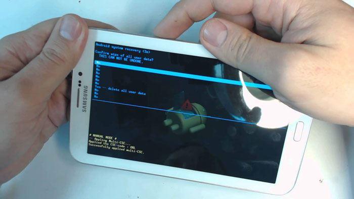 samsung galaxy tab 2 factory reset