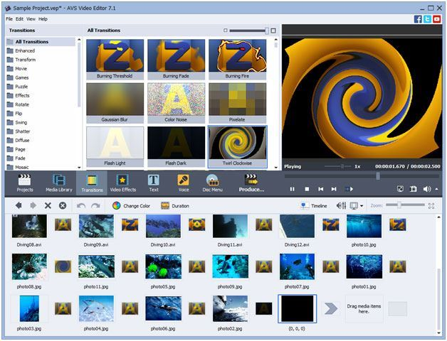 AVS Video Editor edit canon cam videos