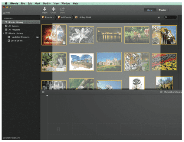 how to make a slideshow in imovie