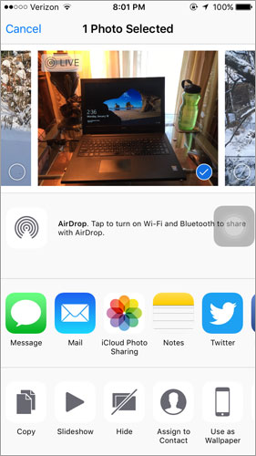 share iphone live photos from iphone 6s