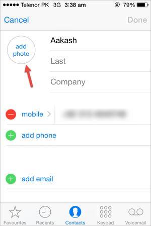iphone contact photos