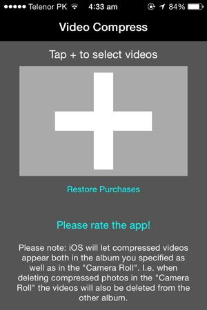 compress videos on iphone 6s