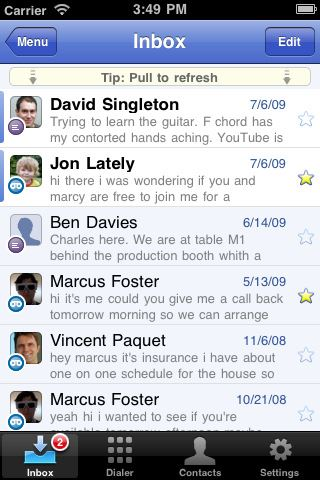 voicemail apps for iphone