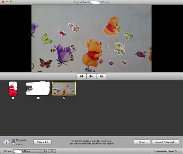 transfer iphone video to mac