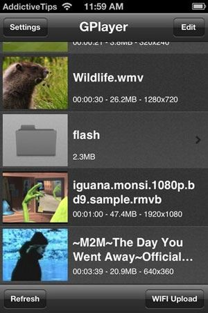 how to play flash video on iphone